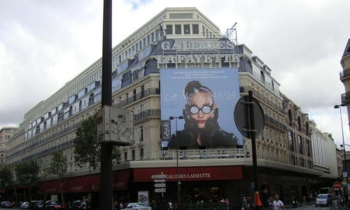 Galeires Lafayette Paris Flagship on Haussman.
