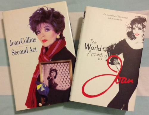 Joan's autobiography 'Second Act' published in 1996 and her light -hearted look at modern life ' The World According to Joan' published in 2011.