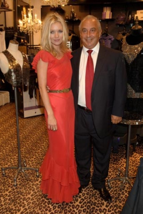 Supermodel Kate Moss with Topshop CEO Sir Phillip Green  (Photo: Topshop)