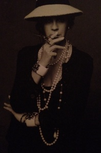 Carine as Coco Chanel in The Little Black Jacket project with Lagerfeld.