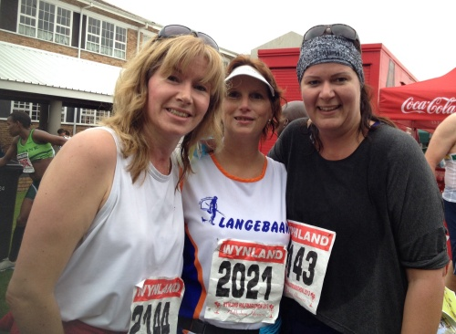 The Langebaan West Coast team consisting of myself, my sister and her running partner Shoneen.