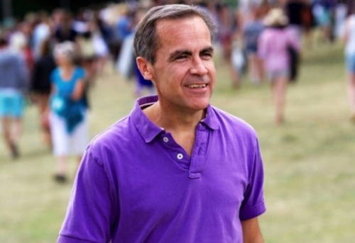 Mark Carney basking in the summer sun at a weekend festival earlier this year. (photo- Evening Standard)