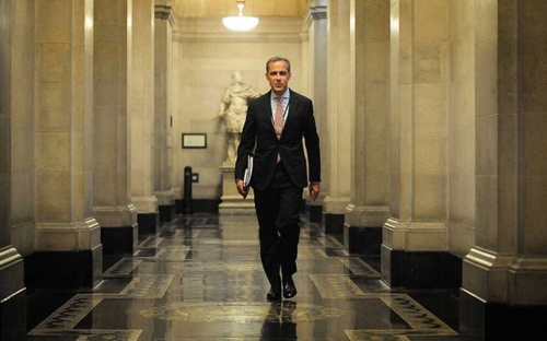 BOE governor Mark Carney taking up office at Threadneedle Street. (photo- Telegraph).