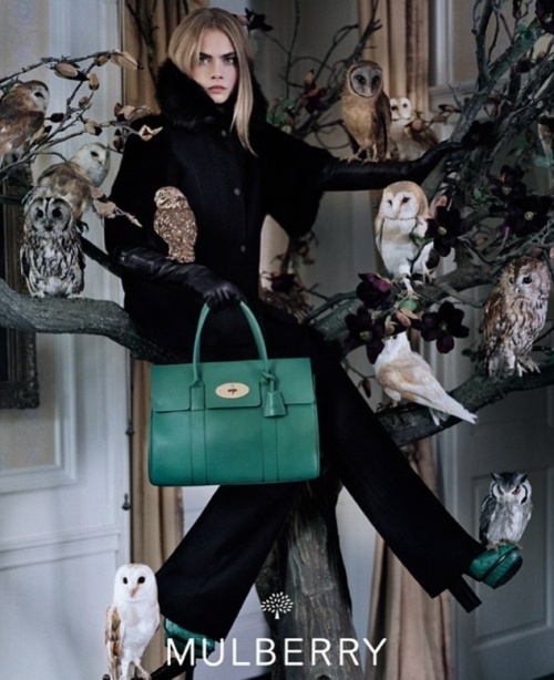 Cara Delevingne photographed by renowned British photographer Tim Walker (photo - Mulberry)