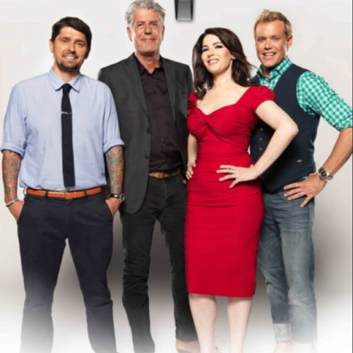 The US version of 'The Taste' Ludo Lefebvre, Anthony Bourdain, Nigella Lawson and Marcus Samuelsson. (photo - abc)