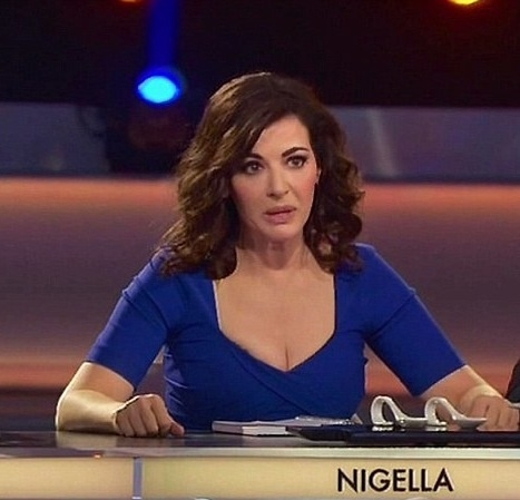 Nigella as mentor and judge on  '. The Taste'. (photo - XPUSJP)
