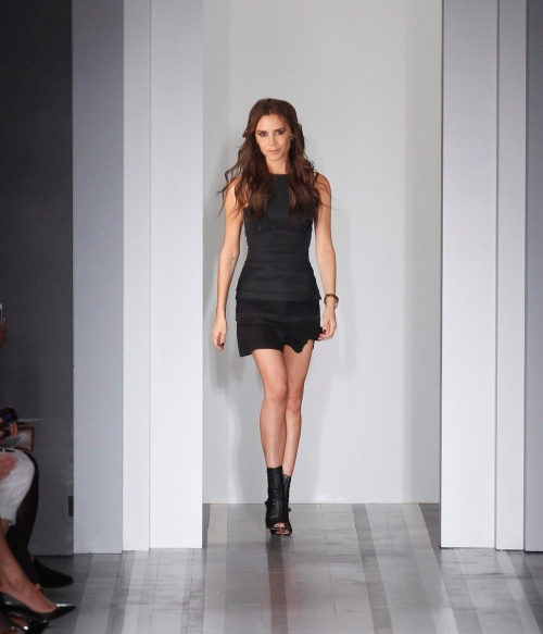 Victoria Beckham at New York Fashion Week. (photo - GoRunway)