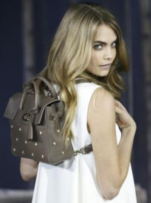 The Cara Delevingne backpack. (photo-Reuters)