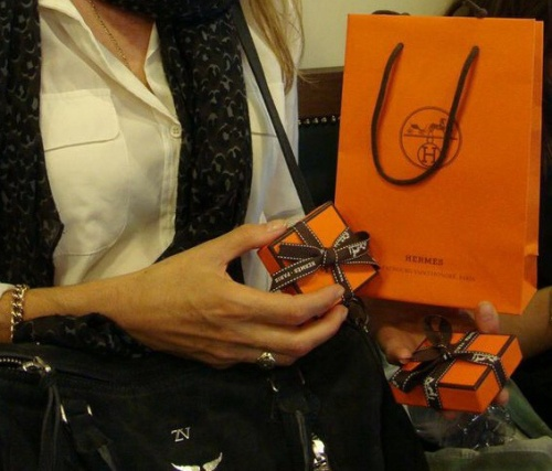 The trademark orange packaging. (photo - worklondonstyle)