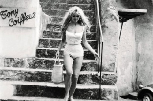 Brigitte Bardot with her famous basket in beloved St Tropez.