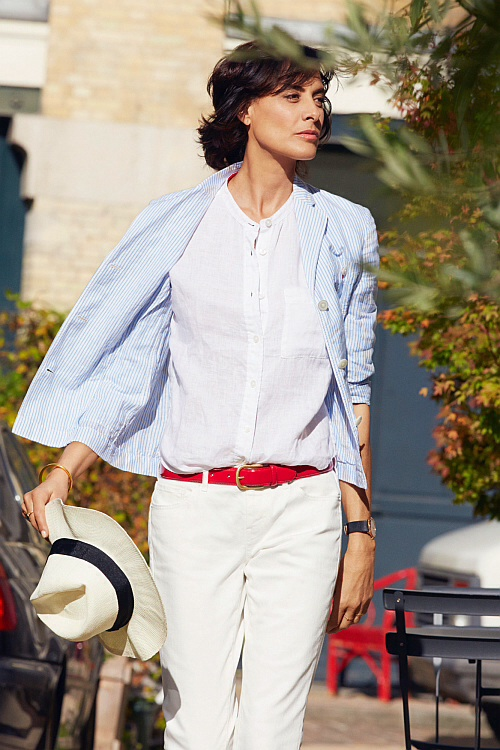 Ines de la Fressange for Uniqlo (photo - Uniqlo)