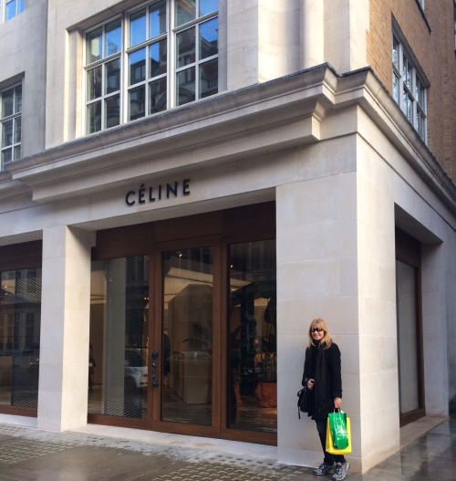 worklondonstyle shopping Celine's new flagship store on Mount Street on opening day. (photo - worklondonstyle)