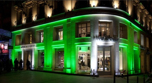 The Champs Élysées Flagship store by night. (photo - M&S)