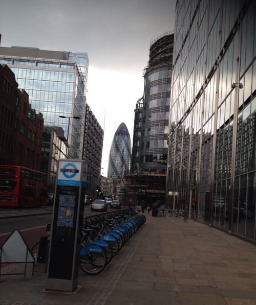 London's Financial district. (photo  - worklondonstyle)
