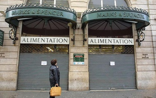 Workers and customers were outraged when M&S shut its stores in France in 2001.