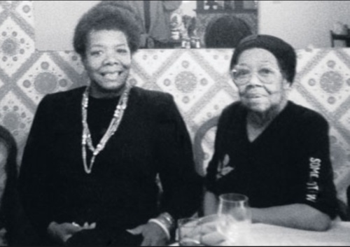 Dr Angelou with her mother Vivian Baxter about whom she wrote: 'Mum and me and mum' (photo-curtesy Maya Angelou)