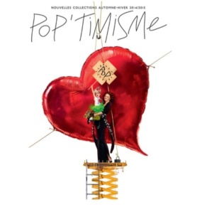 "Diane as she is set to appear in the campaign for Galleries Lafayette's  Autumn theme ""Pop'timisme."" (photo - Jean-Paul Goude)"