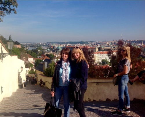 Mentoring is fun in luxurious surroundings. With Jean Thopson in Prague (photo - worklondonstyle)