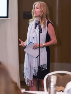 Speaking to an international audience on Personal Branding and Style at the Shangri-La hotel in Sydney, Australia.