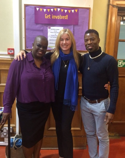 With Aprils Dawn and Dr. Diepiriye Kuku-Siemons (photo - worklondonstyle)